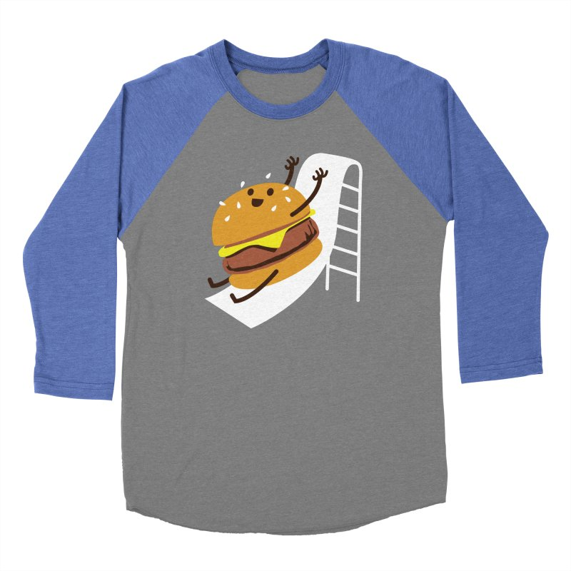 Slider Burger Men's Baseball Triblend T-Shirt by Apparel by Marco aka ivejustquitsmoking