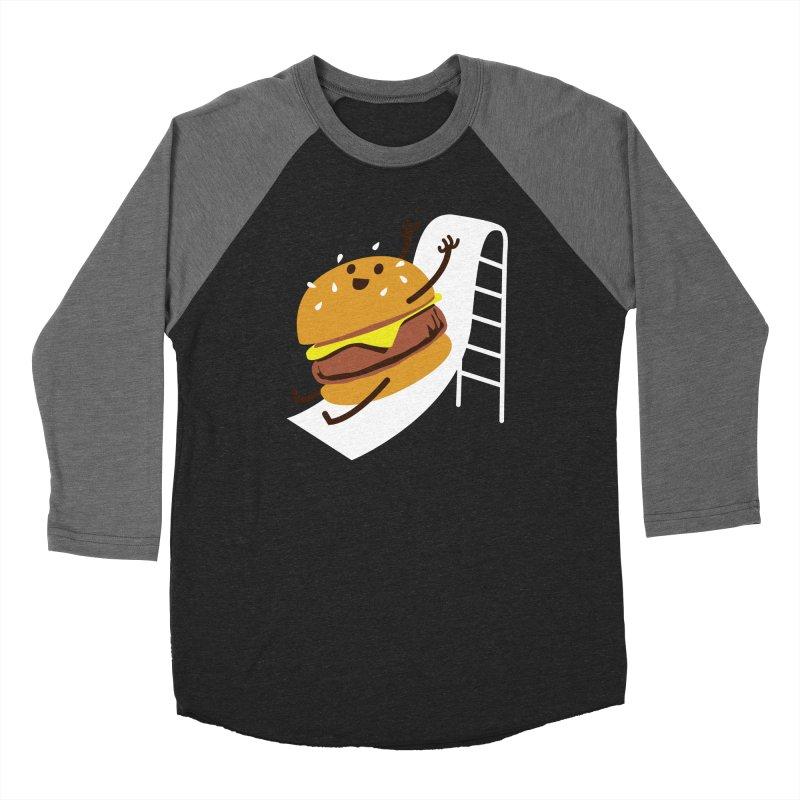 Slider Burger Men's Baseball Triblend T-Shirt by Apparel by Marco aka ivejustquitsmoking