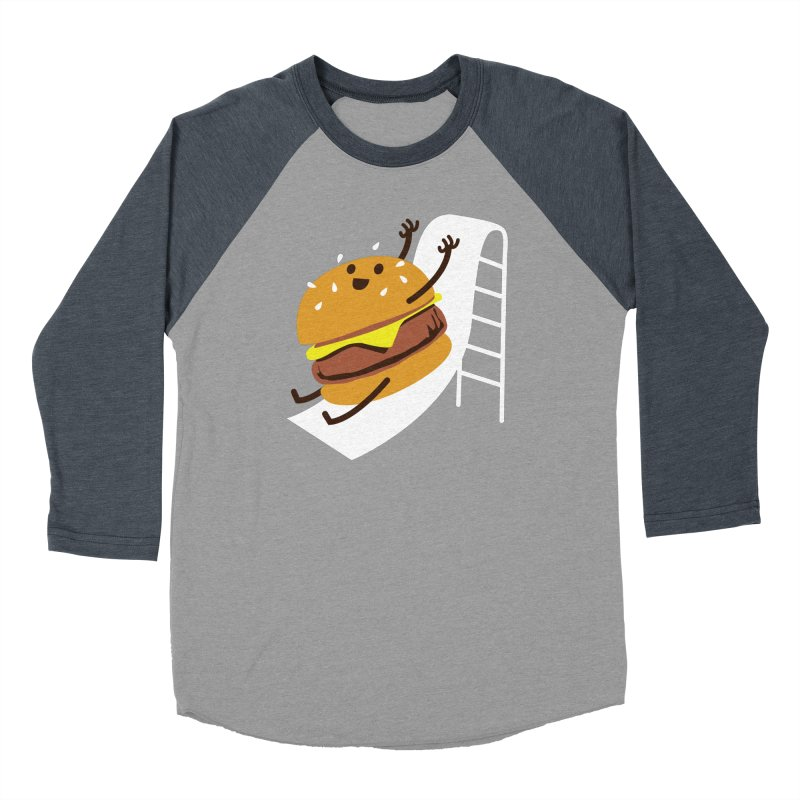Slider Burger Men's Baseball Triblend Longsleeve T-Shirt by Apparel by Marco aka ivejustquitsmoking