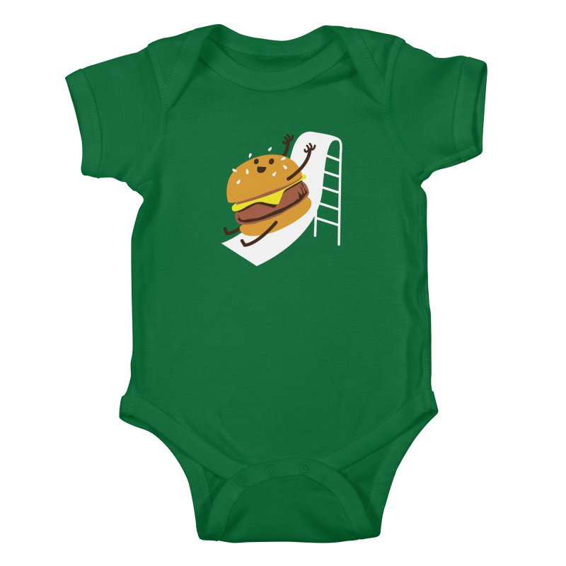 Slider Burger Kids Baby Bodysuit by Apparel by Marco aka ivejustquitsmoking
