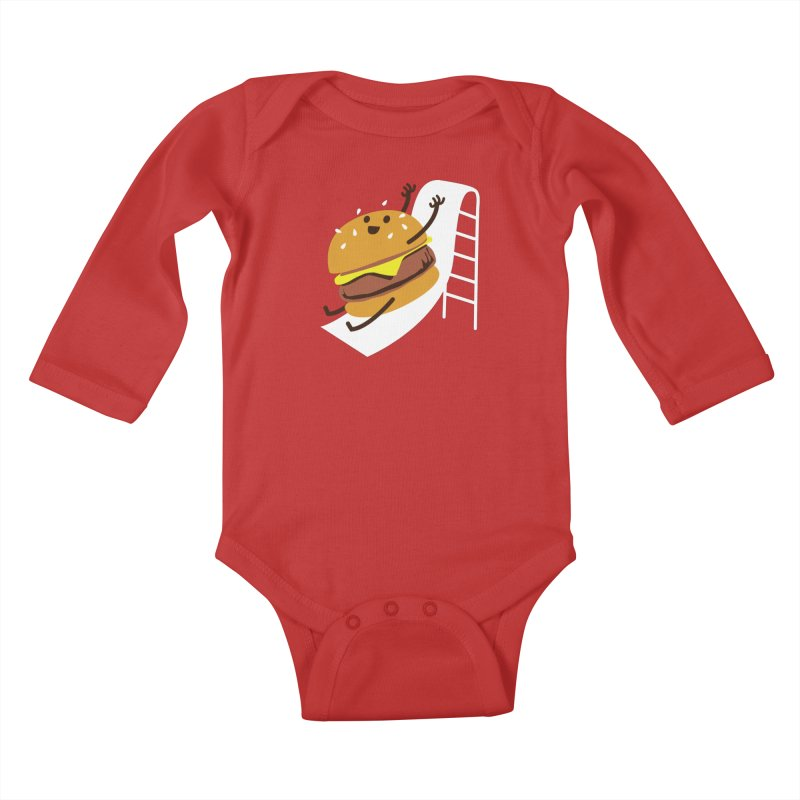 Slider Burger Kids Baby Longsleeve Bodysuit by Apparel by Marco aka ivejustquitsmoking
