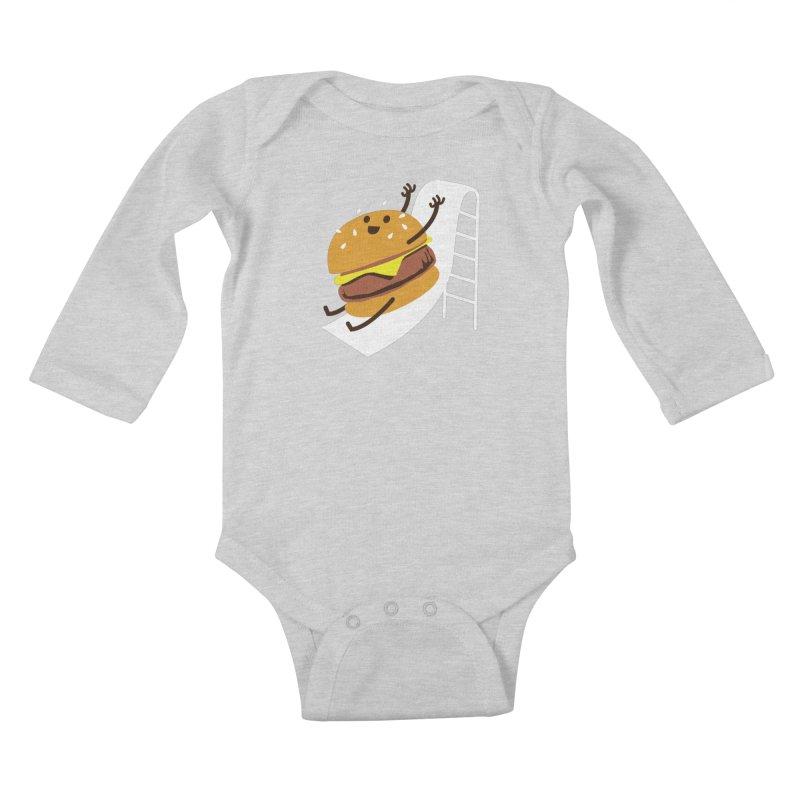 Slider Burger Kids Baby Longsleeve Bodysuit by Apparel by Marco aka ivejustquitsmoking