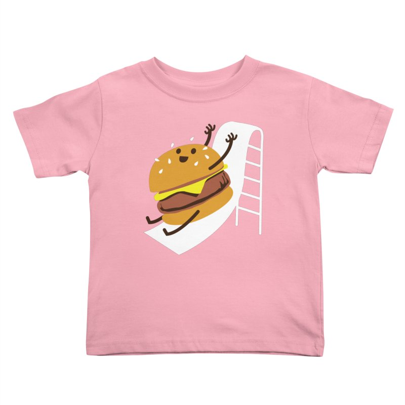 Slider Burger Kids Toddler T-Shirt by Apparel by Marco aka ivejustquitsmoking