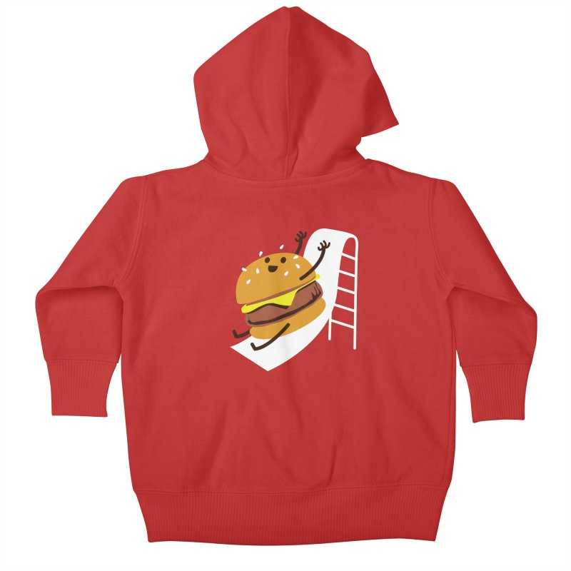 Slider Burger Kids Baby Zip-Up Hoody by Apparel by Marco aka ivejustquitsmoking