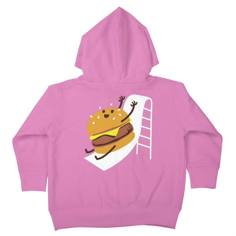 Slider Burger Kids Toddler Zip-Up Hoody by Apparel by Marco aka ivejustquitsmoking