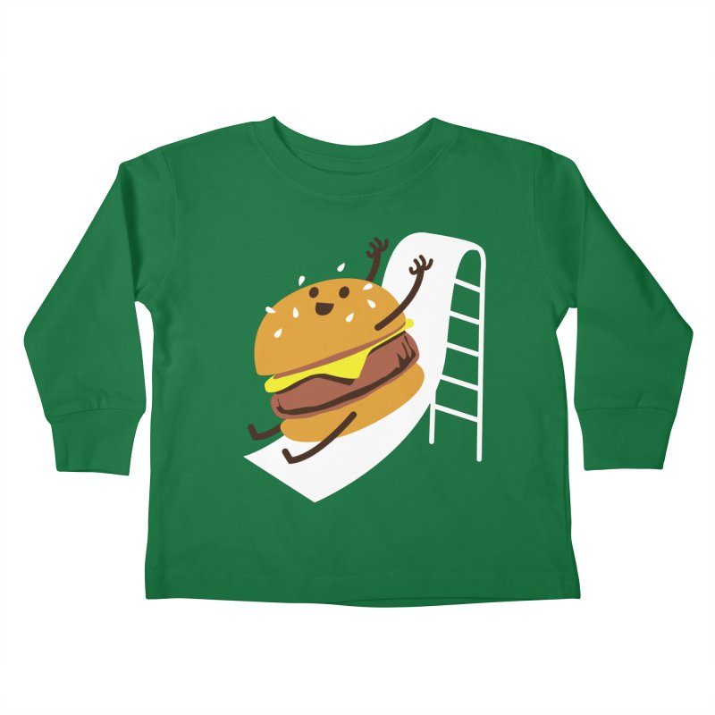 Slider Burger Kids Toddler Longsleeve T-Shirt by Apparel by Marco aka ivejustquitsmoking