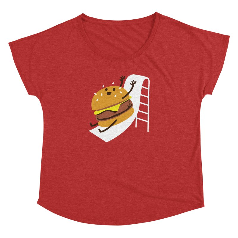 Slider Burger Women's Dolman Scoop Neck by Apparel by Marco aka ivejustquitsmoking
