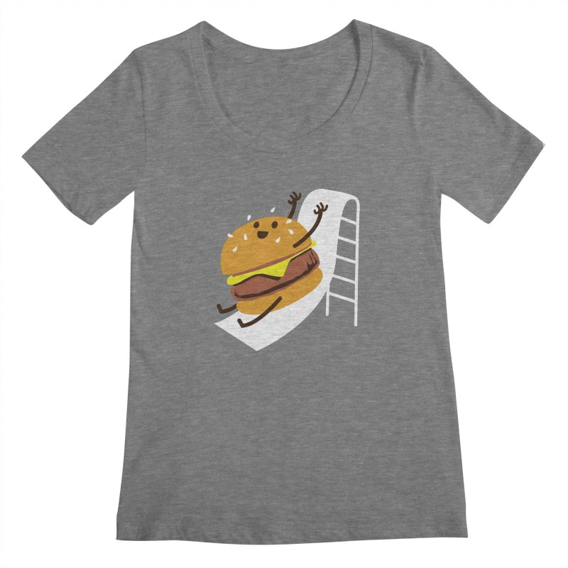 Slider Burger Women's Scoopneck by Apparel by Marco aka ivejustquitsmoking