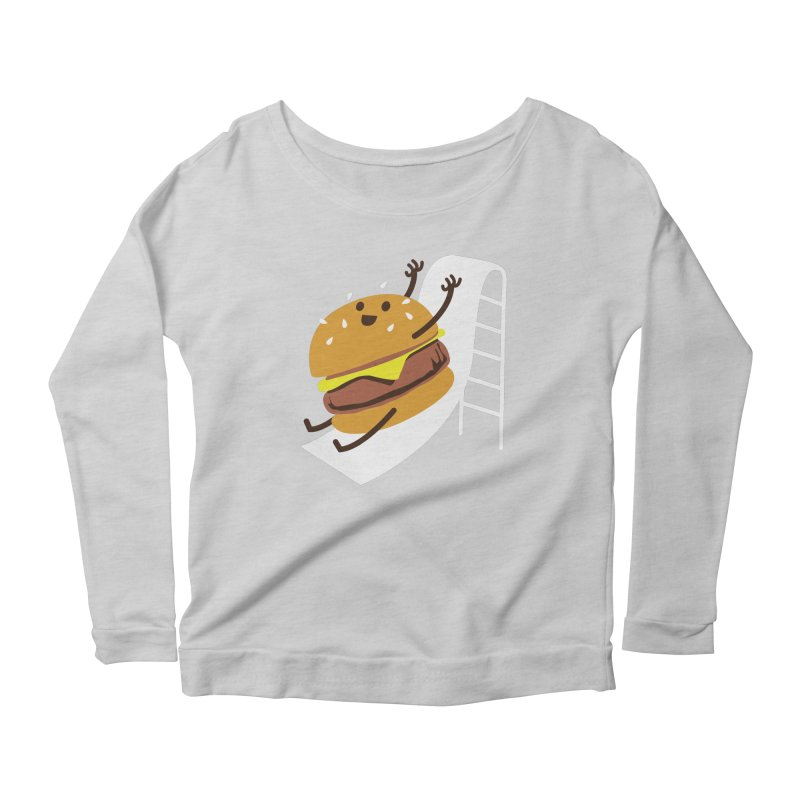 Slider Burger Women's Scoop Neck Longsleeve T-Shirt by Apparel by Marco aka ivejustquitsmoking