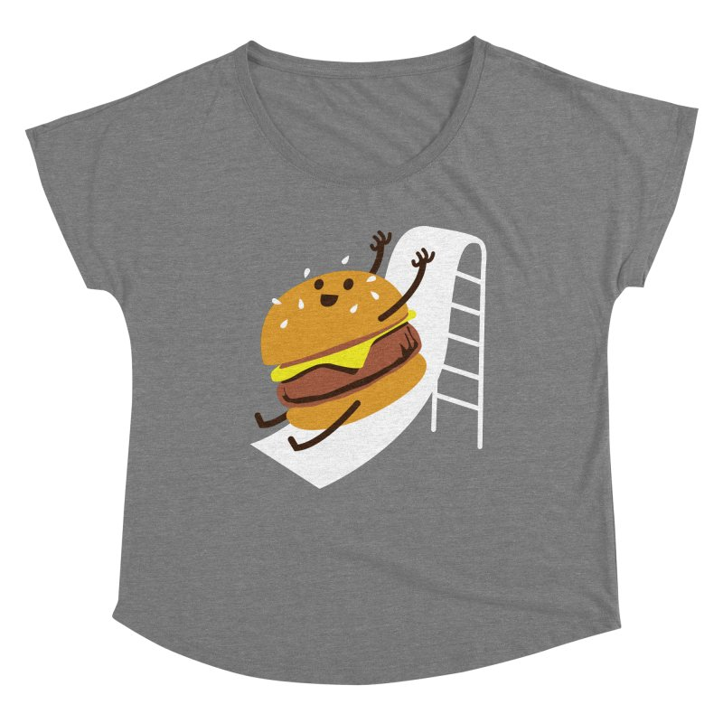 Slider Burger Women's Scoop Neck by Apparel by Marco aka ivejustquitsmoking