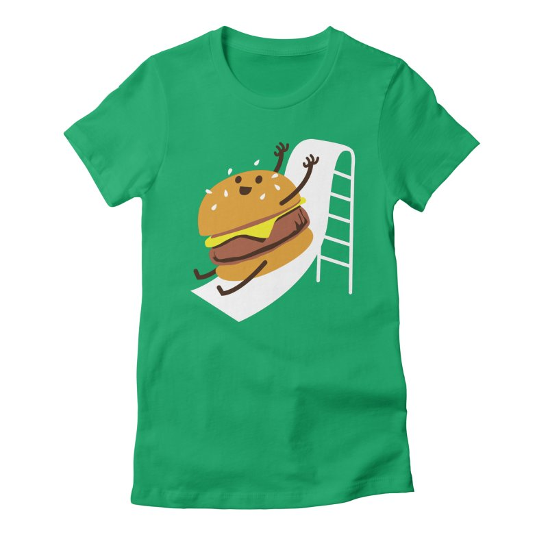 Slider Burger Women's Fitted T-Shirt by Apparel by Marco aka ivejustquitsmoking