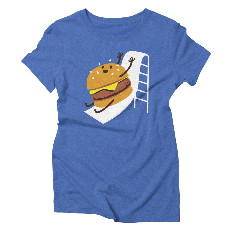 Slider Burger Women's Triblend T-Shirt by Apparel by Marco aka ivejustquitsmoking