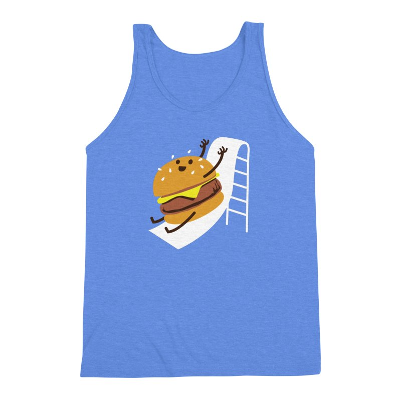 Slider Burger Men's Triblend Tank by Apparel by Marco aka ivejustquitsmoking