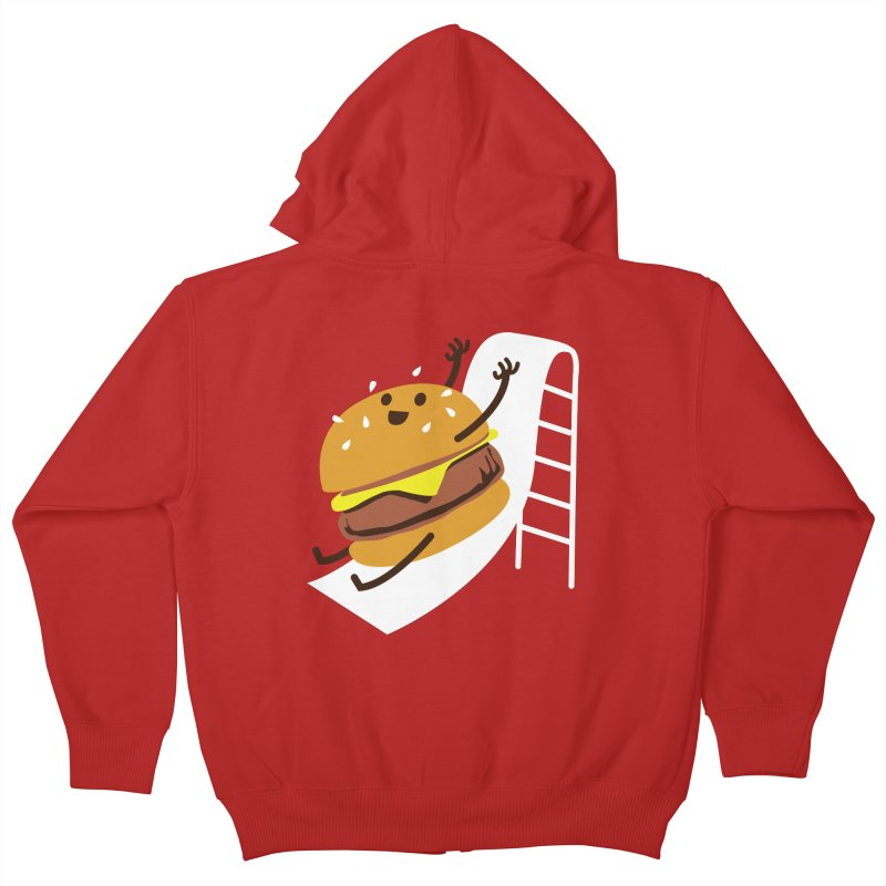 Slider Burger Kids Zip-Up Hoody by Apparel by Marco aka ivejustquitsmoking