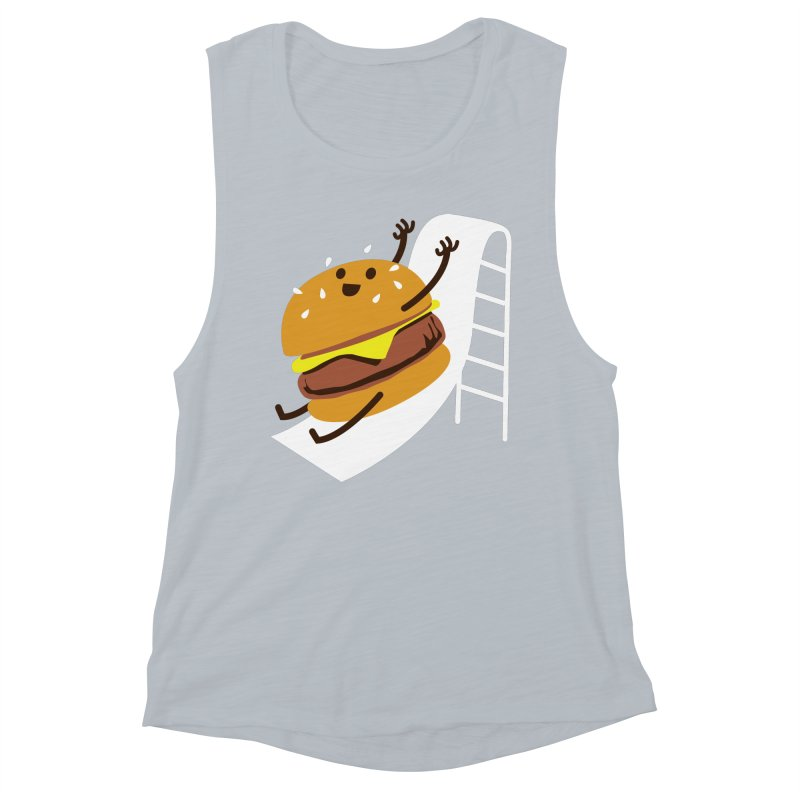 Slider Burger Women's Muscle Tank by Apparel by Marco aka ivejustquitsmoking