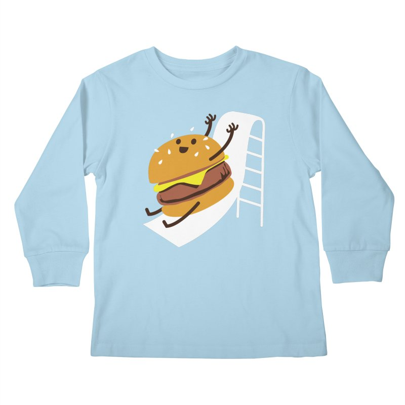 Slider Burger Kids Longsleeve T-Shirt by Apparel by Marco aka ivejustquitsmoking