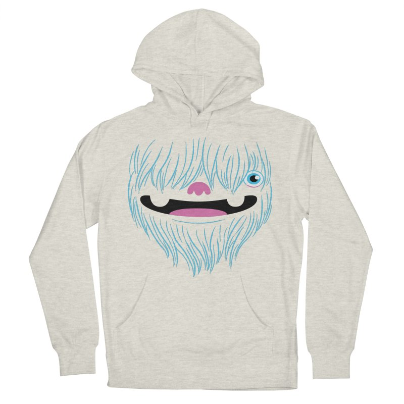 Happy Yeti Men's French Terry Pullover Hoody by Apparel by Marco aka ivejustquitsmoking