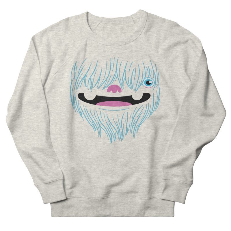 Happy Yeti Women's French Terry Sweatshirt by Apparel by Marco aka ivejustquitsmoking