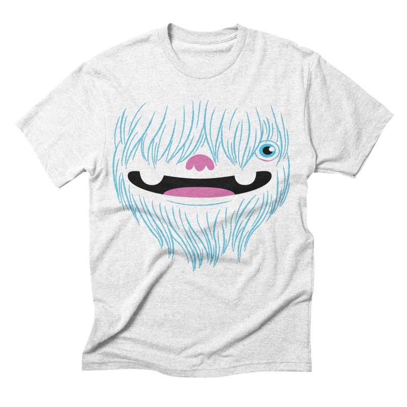 Happy Yeti Men's Triblend T-shirt by Apparel by Marco aka ivejustquitsmoking