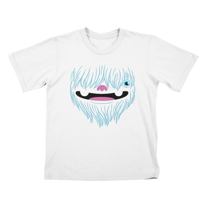 Happy Yeti Kids T-Shirt by Apparel by Marco aka ivejustquitsmoking