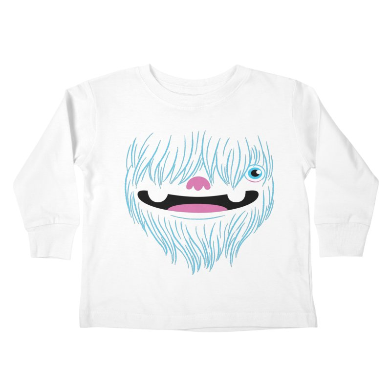 Happy Yeti Kids Toddler Longsleeve T-Shirt by Apparel by Marco aka ivejustquitsmoking