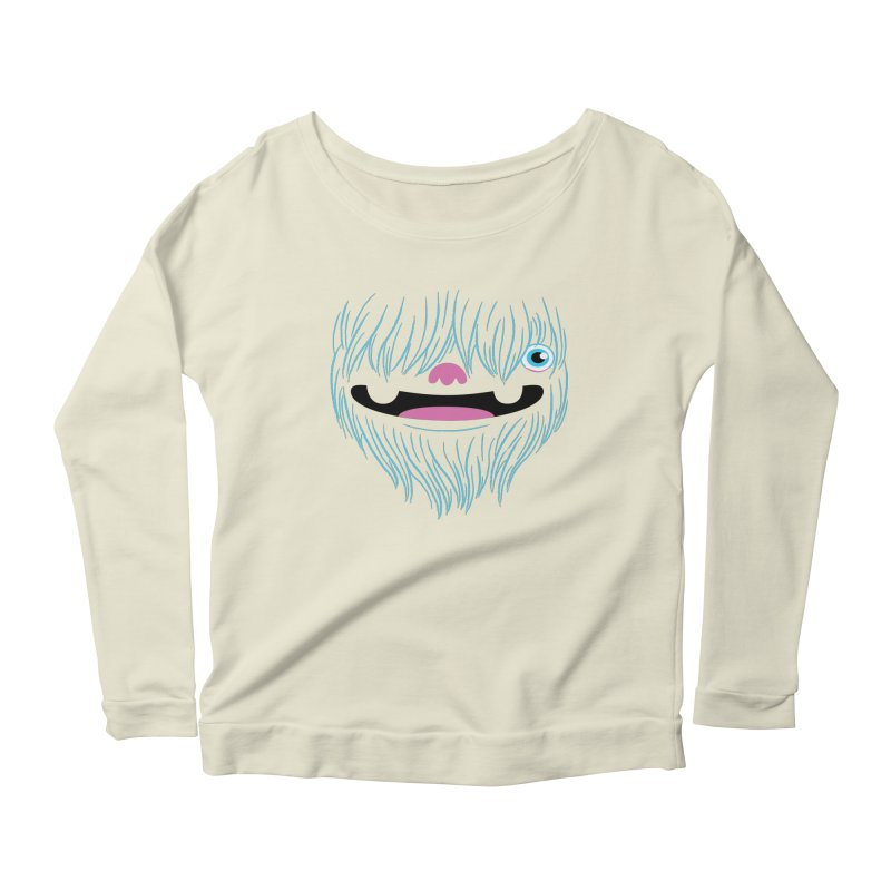 Happy Yeti Women's Scoop Neck Longsleeve T-Shirt by Apparel by Marco aka ivejustquitsmoking