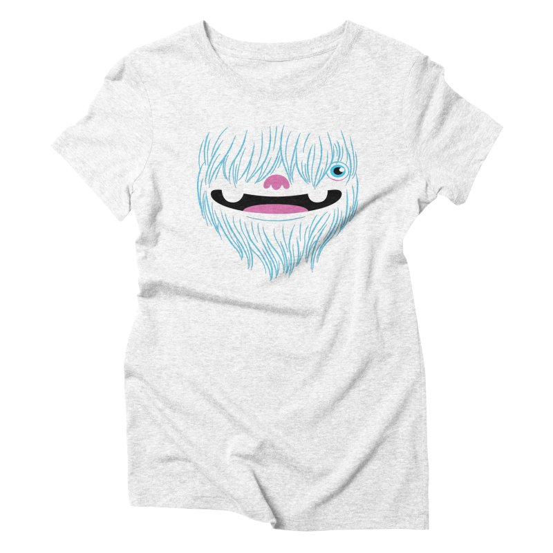 Happy Yeti Women's Triblend T-shirt by Apparel by Marco aka ivejustquitsmoking