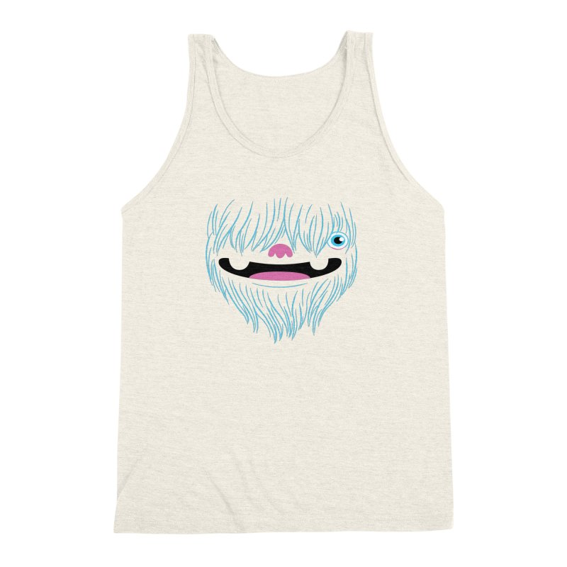 Happy Yeti Men's Triblend Tank by Apparel by Marco aka ivejustquitsmoking