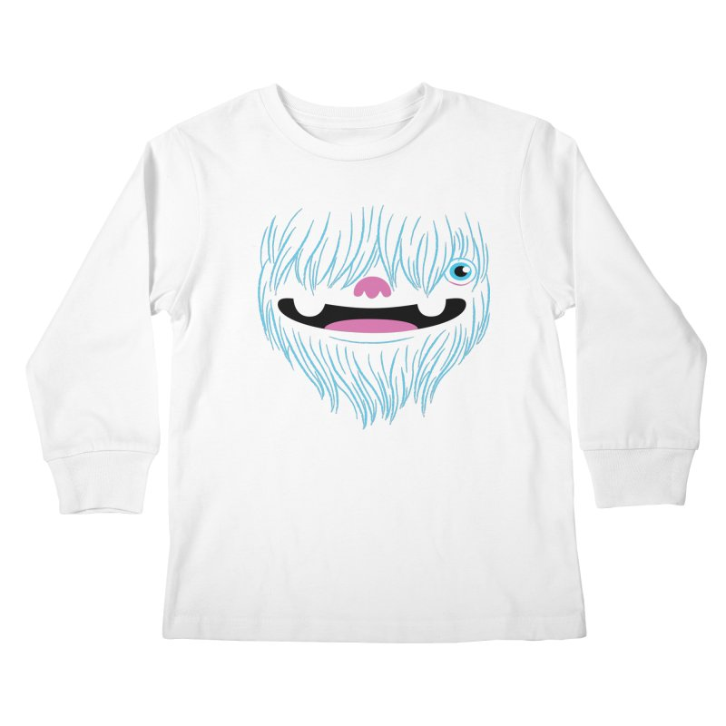 Happy Yeti Kids Longsleeve T-Shirt by Apparel by Marco aka ivejustquitsmoking