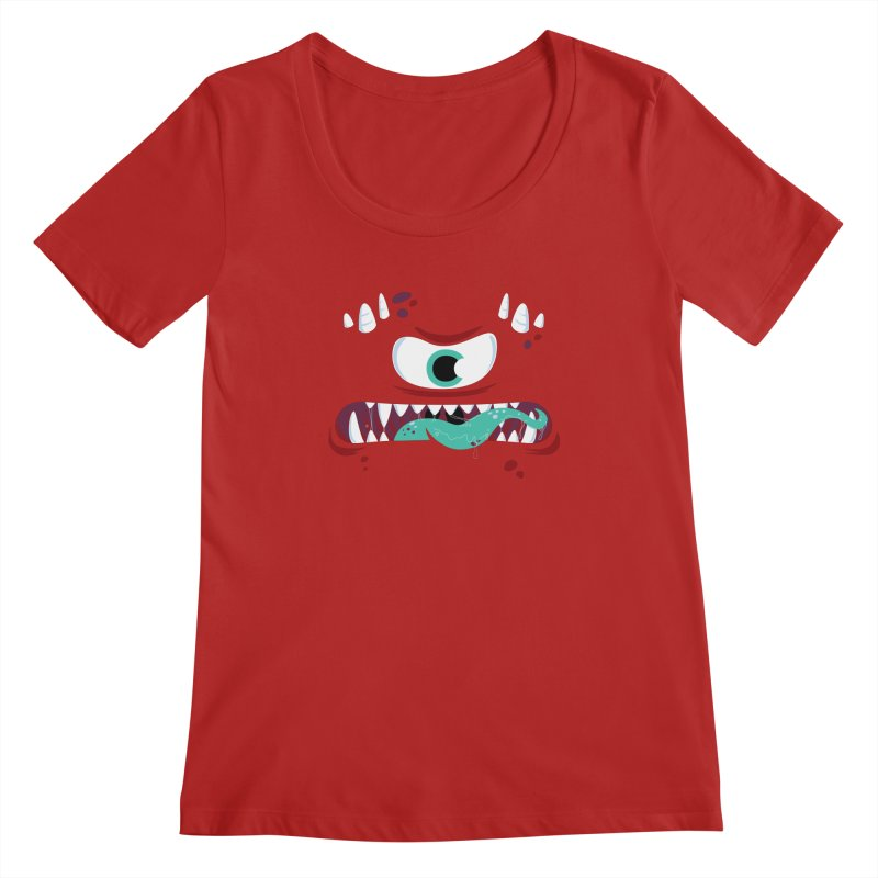 Mad Monster Women's Scoopneck by Apparel by Marco aka ivejustquitsmoking
