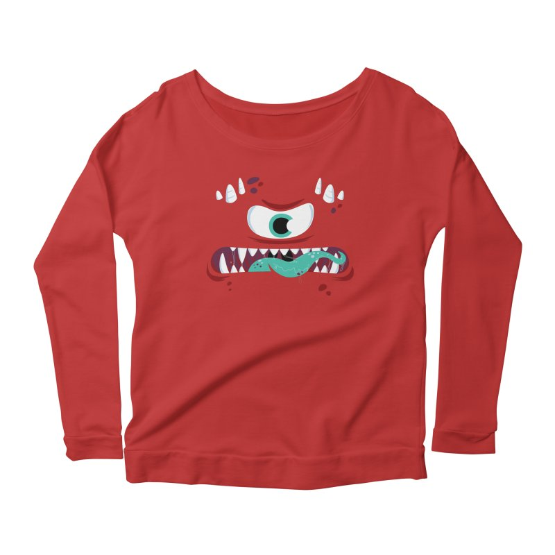 Mad Monster Women's Scoop Neck Longsleeve T-Shirt by Apparel by Marco aka ivejustquitsmoking