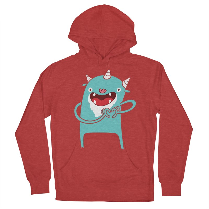 Monster Hearts You Women's French Terry Pullover Hoody by Apparel by Marco aka ivejustquitsmoking