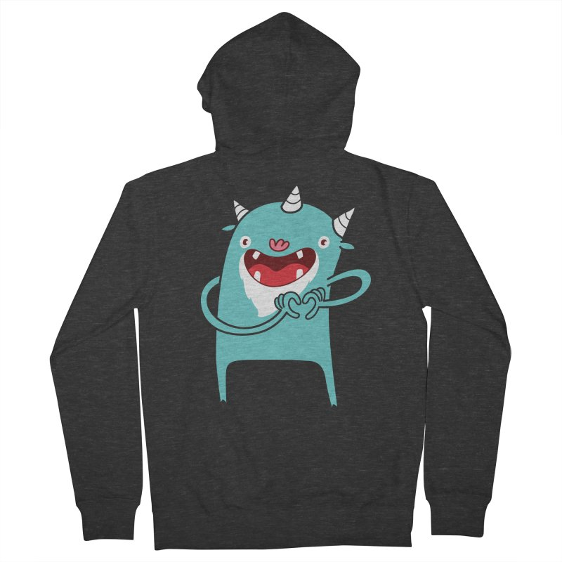 Monster Hearts You Women's French Terry Zip-Up Hoody by Apparel by Marco aka ivejustquitsmoking