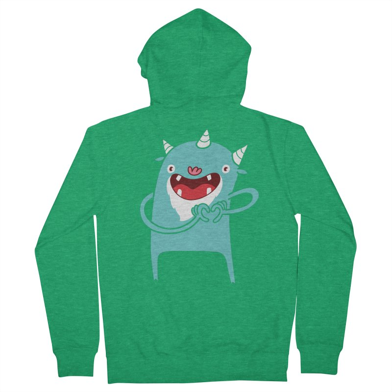 Monster Hearts You Men's French Terry Zip-Up Hoody by Apparel by Marco aka ivejustquitsmoking