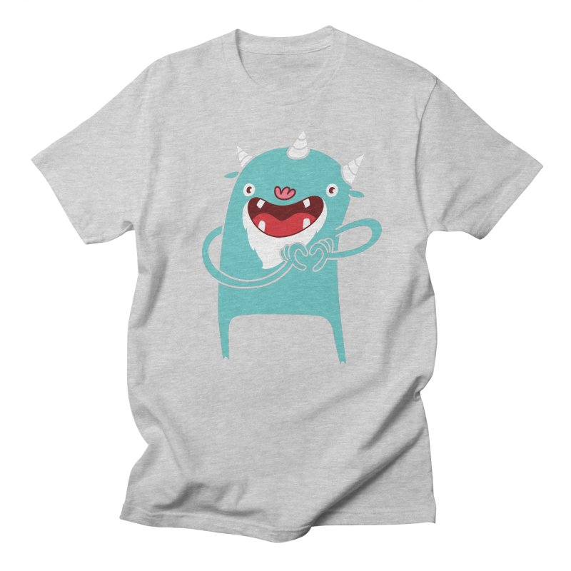 Monster Hearts You Men's Regular T-Shirt by Apparel by Marco aka ivejustquitsmoking