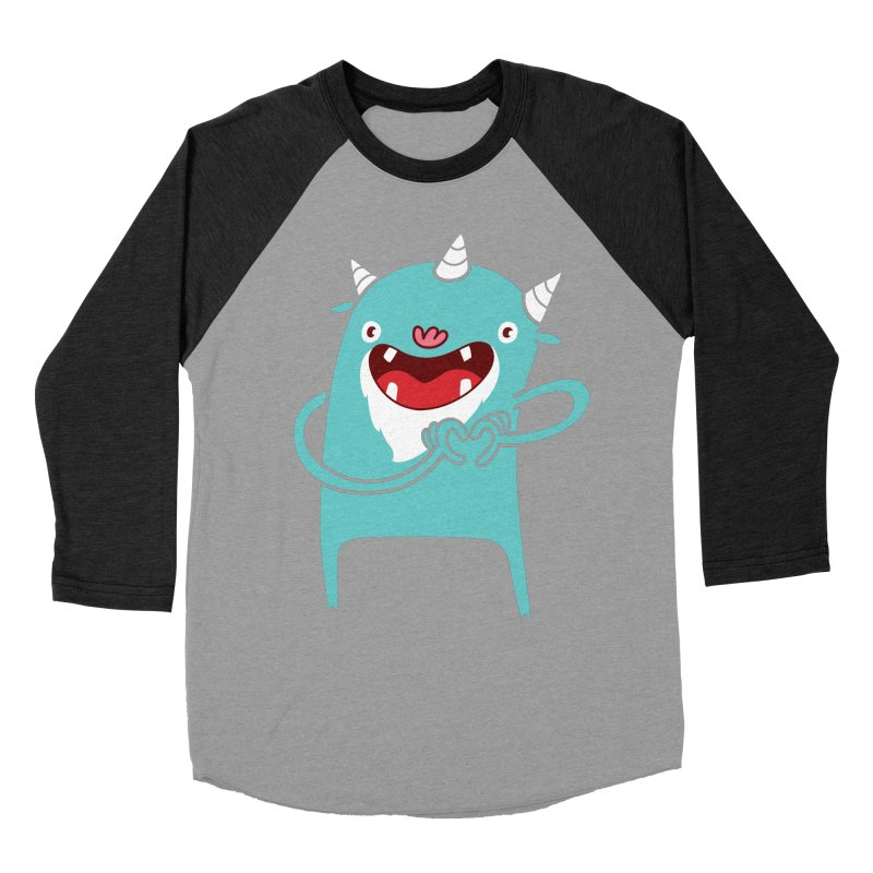 Monster Hearts You Men's Baseball Triblend T-Shirt by Apparel by Marco aka ivejustquitsmoking
