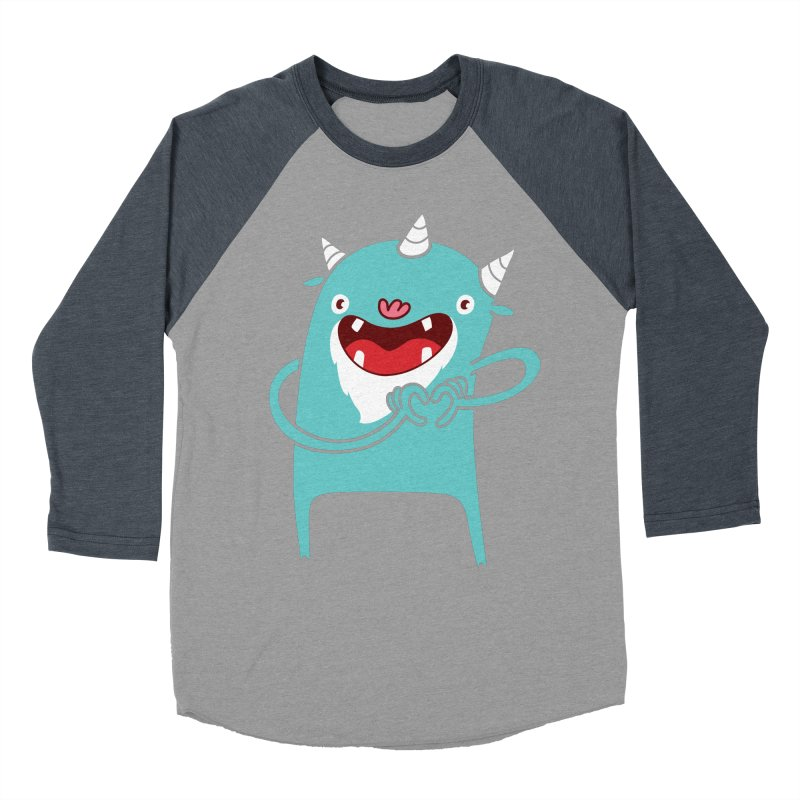 Monster Hearts You Men's Baseball Triblend Longsleeve T-Shirt by Apparel by Marco aka ivejustquitsmoking