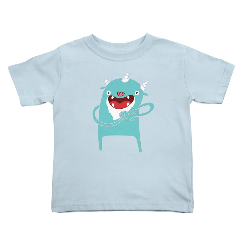 Monster Hearts You Kids Toddler T-Shirt by Apparel by Marco aka ivejustquitsmoking