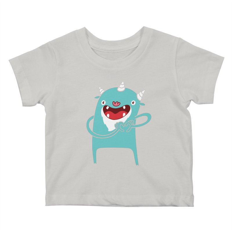 Monster Hearts You Kids Baby T-Shirt by Apparel by Marco aka ivejustquitsmoking