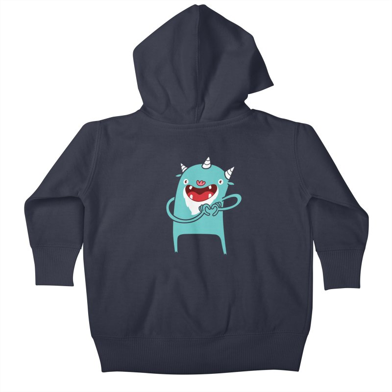Monster Hearts You Kids Baby Zip-Up Hoody by Apparel by Marco aka ivejustquitsmoking