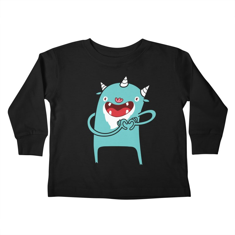 Monster Hearts You Kids Toddler Longsleeve T-Shirt by Apparel by Marco aka ivejustquitsmoking