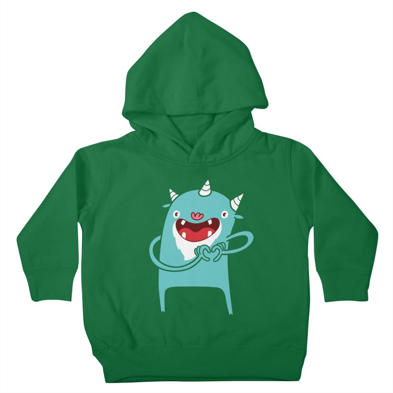 Monster Hearts You Kids Toddler Pullover Hoody by Apparel by Marco aka ivejustquitsmoking
