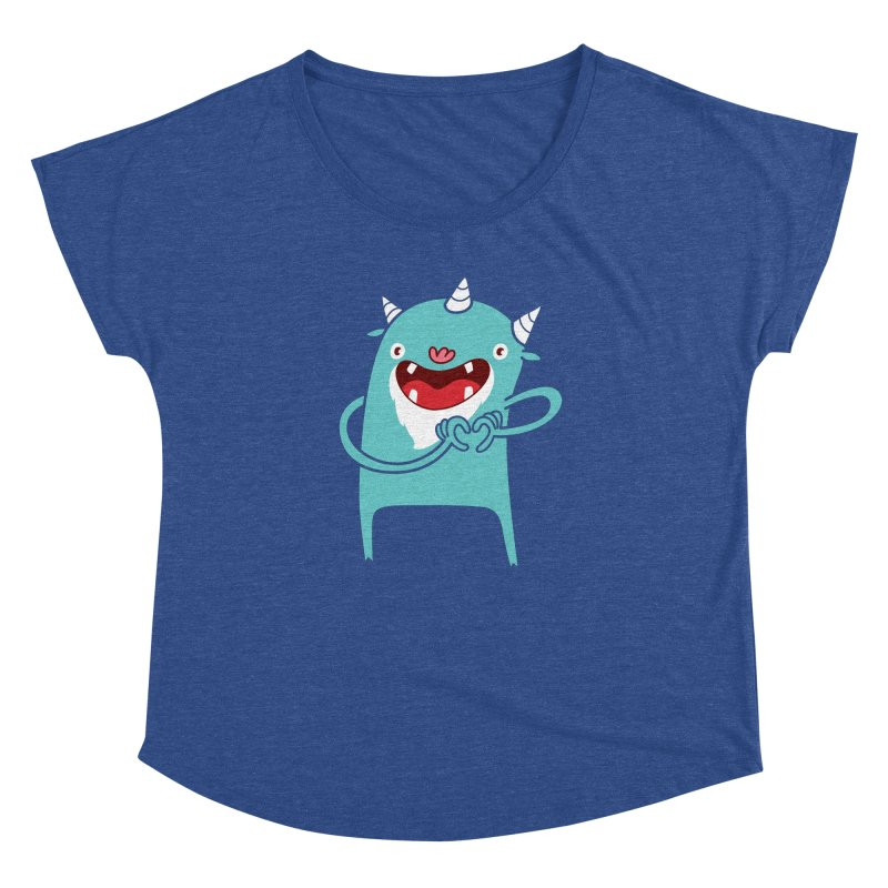 Monster Hearts You Women's Dolman Scoop Neck by Apparel by Marco aka ivejustquitsmoking