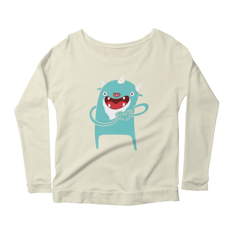 Monster Hearts You Women's Longsleeve Scoopneck  by Apparel by Marco aka ivejustquitsmoking