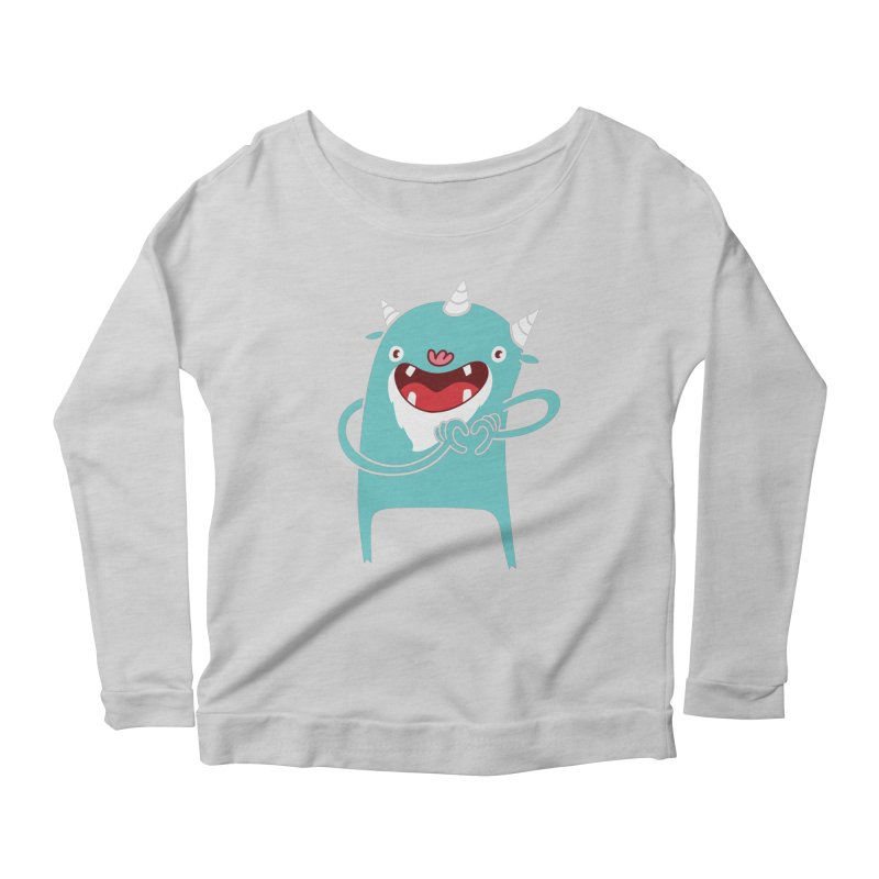 Monster Hearts You Women's Scoop Neck Longsleeve T-Shirt by Apparel by Marco aka ivejustquitsmoking