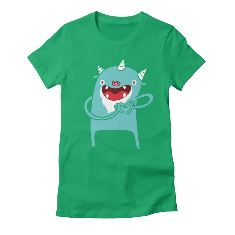 Monster Hearts You Women's Fitted T-Shirt by Apparel by Marco aka ivejustquitsmoking
