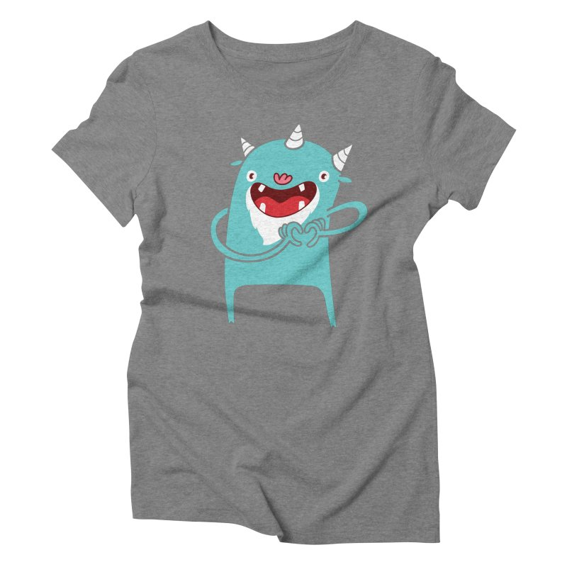 Monster Hearts You Women's Triblend T-Shirt by Apparel by Marco aka ivejustquitsmoking