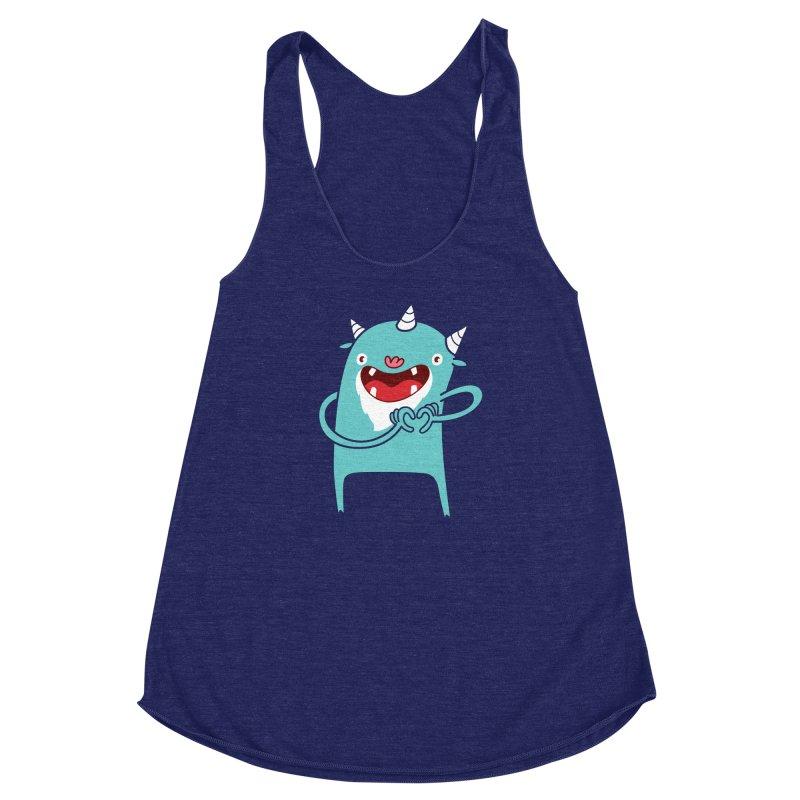 Monster Hearts You Women's Racerback Triblend Tank by Apparel by Marco aka ivejustquitsmoking