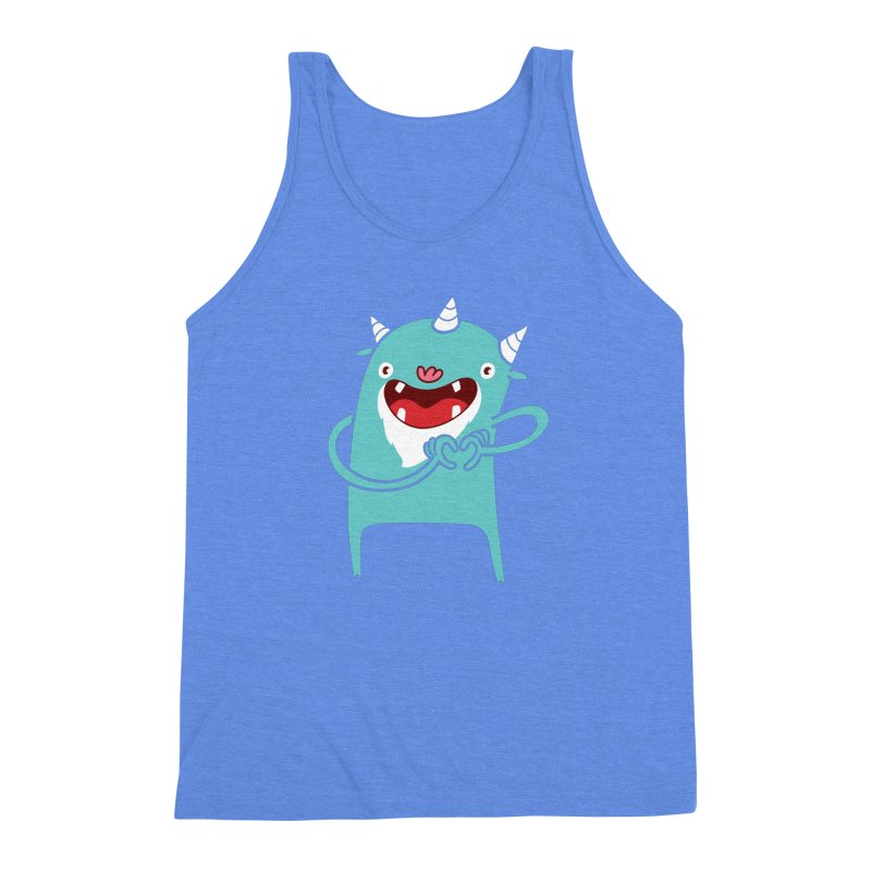 Monster Hearts You Men's Triblend Tank by Apparel by Marco aka ivejustquitsmoking