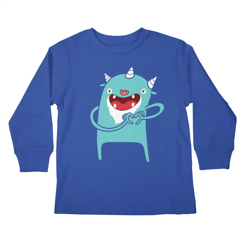 Monster Hearts You Kids Longsleeve T-Shirt by Apparel by Marco aka ivejustquitsmoking